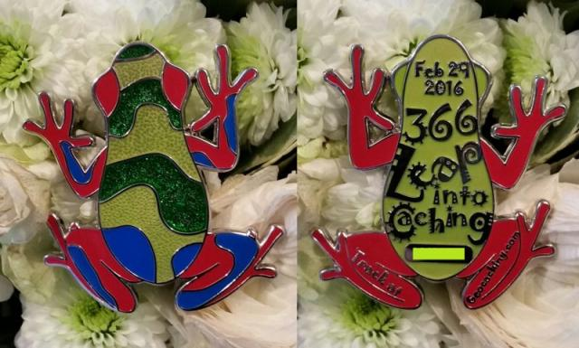0fbbf53d4acfb5 Leap Year 2016 Multi Event Poison Dart Frog Geocoin -Cologne Rainbow- ...
